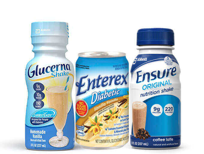 glucerna entrex or ensure - which is best for diabetics