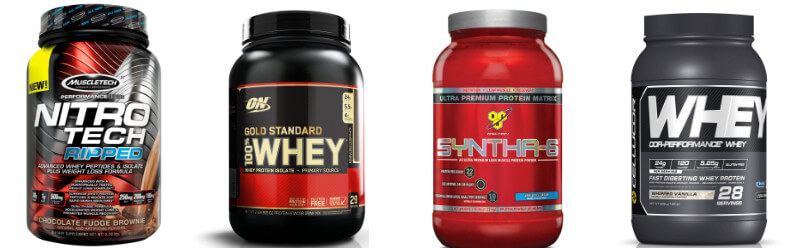 the best selection of protein powders